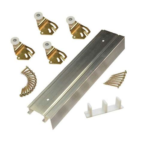 Johnson Door Hardware by Johnson Hardware 2200f Series Bypass Track Set For 2 Doors