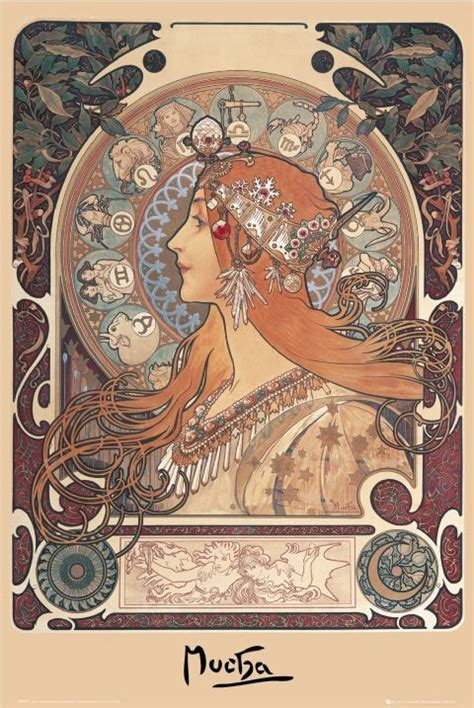 alfons mucha zodiac poster sold at europosters