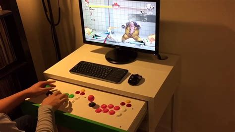 Ikea Micke Computer Desk Ikea Micke Desk Fightstick Hack Youtube