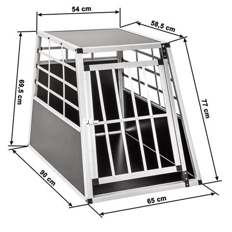 gabbie per cani da auto trasportino gabbia in alluminio per cani da auto large l