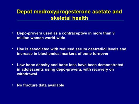 Depo Provera Detox by Induced Osteoporosis