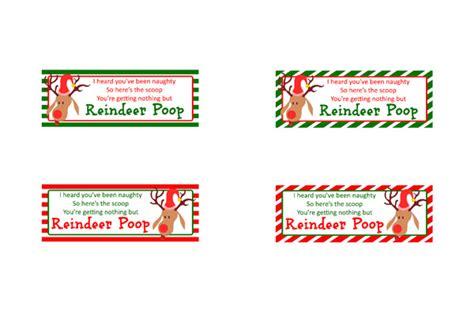 printable reindeer poop labels reindeer poop cincyshopper