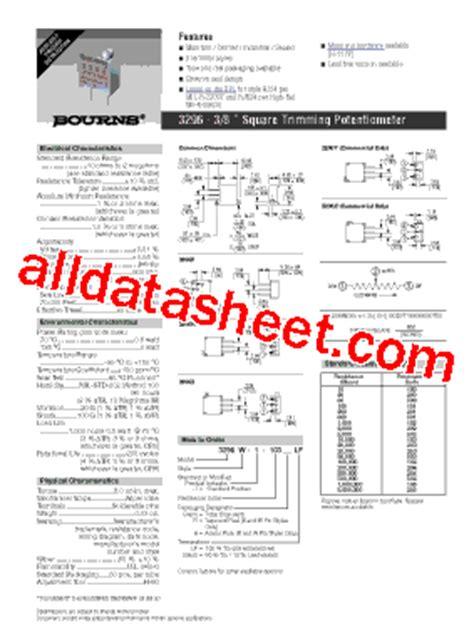 multiturn resistor datasheet multiturn resistor datasheet 28 images 3266x 1 103 bourns 3266x1103 datasheet multiturn