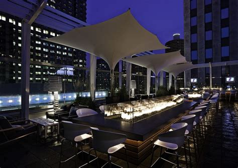 roof top bars in chicago rooftop bar at the wit hotel chicago architecture design by the johnson studio