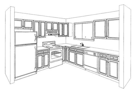 perspective drawing kitchen