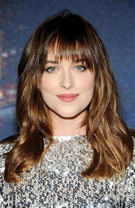how to cut bangs like dakota johnson dakota johnson style pinterest dakota johnson