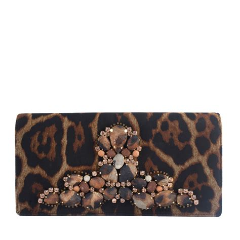 Clutch Animal yves laurent animal print embellished clutch labelcentric