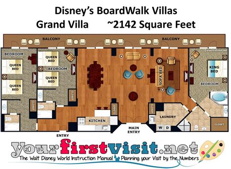 boardwalk 2 bedroom villa accommodations and theming at disney s boardwalk villas yourfirstvisit net