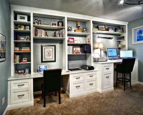 built in office desk built in bookcases ideas for small space