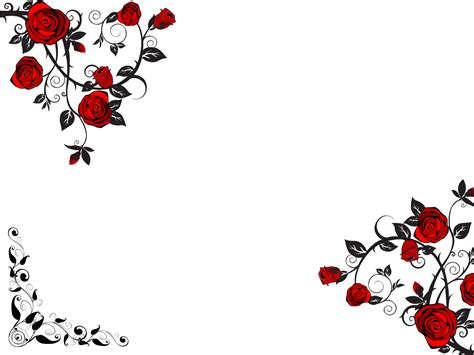Red Rose Flower PPT Backgrounds   Black, Flowers, Red