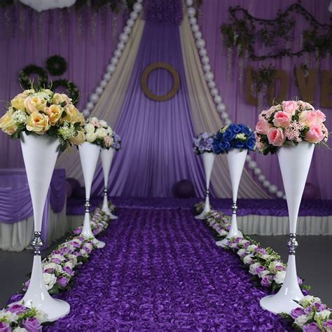 Wedding Aisle Flower Stands by 70cm White Flower Stand Wedding Flower Vase Table