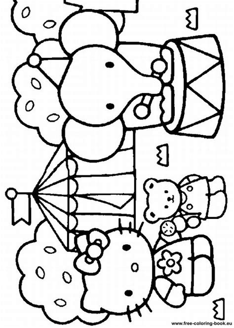 hello kitty coloring pages full size free coloring pages of full size image
