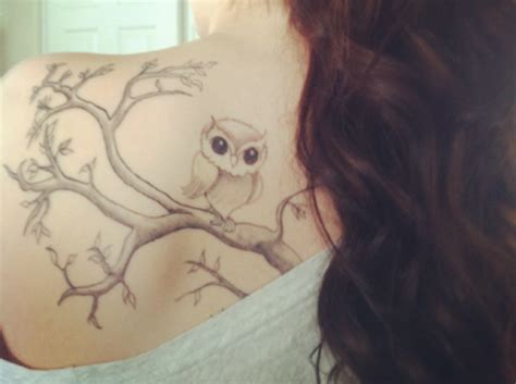 small simple owl tattoos simple owl thigh best home decorating ideas