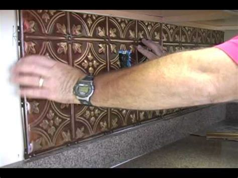 Thermoplastic Panels Kitchen Backsplash Installing A Kitchen Backsplash Youtube
