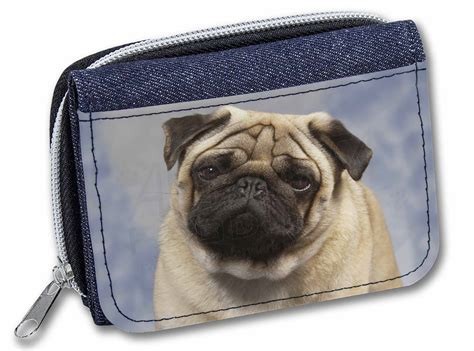 pug wallet fawn pug denim purse wallet gift idea ad p1jw ebay