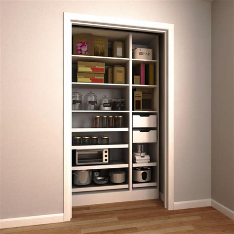 pull out pantry shelves home depot modifi 45 in w x 15 in d x 84 in h melamine pantry