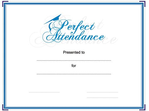 attendance award template award your student or employee for attendance