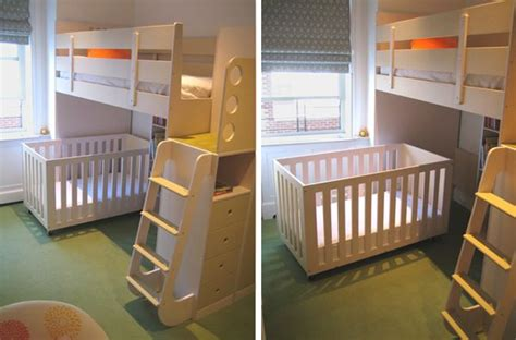 crib bunk bed combo loft bed with room for a crib home children rooms