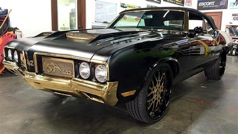golden fast cars newton s toodamnhard 24k gold plated oldsmobile