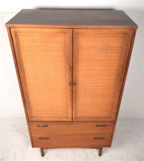 Mid Century Armoire by Mid Century Modern Front Armoire Dresser At 1stdibs