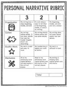 Sle Personal Narrative Essays by Personal Narrative Rubric By The Classroom Key Tpt