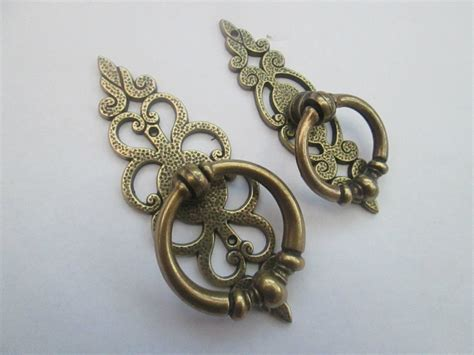 Fancy Drawer Pulls by Vintage Kitchen Cupboard Cabinet Drawer