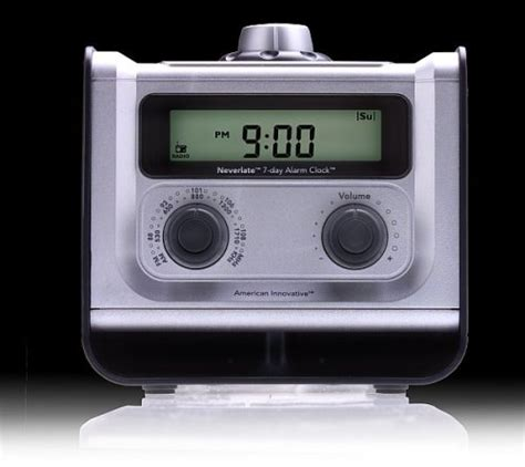 modern designer american innovative neverlate 7 day alarm clock