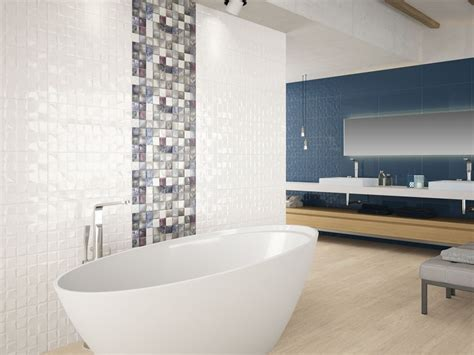 charm white mosaic effect bathroom wall tile