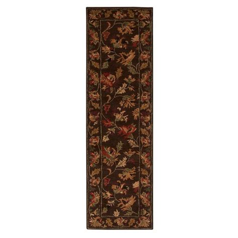 brown rug runner home decorators collection governor brown 2 ft 3 in x 8 ft rug runner 2301275820 the home depot