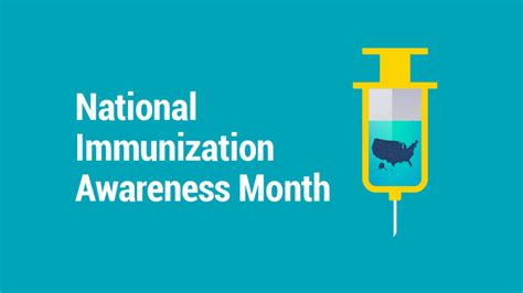 national month lung institute national immunization awareness month