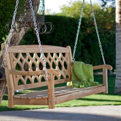 outdoor wood swings wooden porch swing ideas swings pinterest