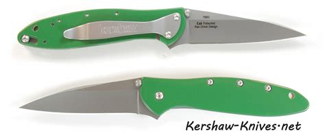 leek knife kershaw leek knife with tractor green handle