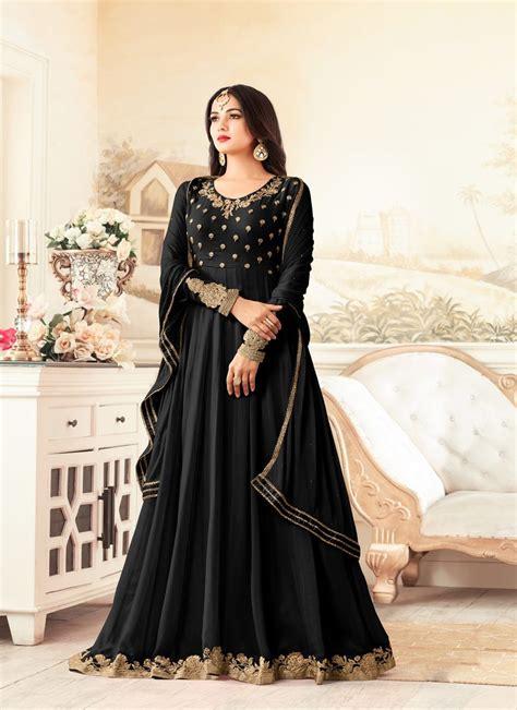 sonal chauhan designer suits sonal chauhan black party wear designer suit