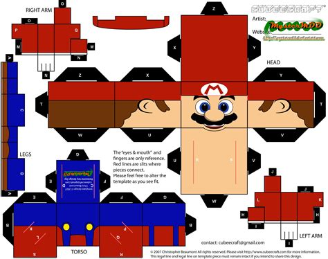 What Paper To Use For Papercraft - mario papercraft free printable papercraft templates