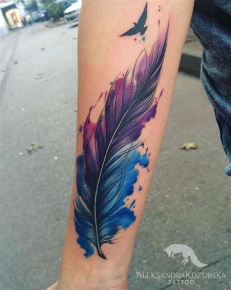30 fabulous feather tattoos for only the most discerning