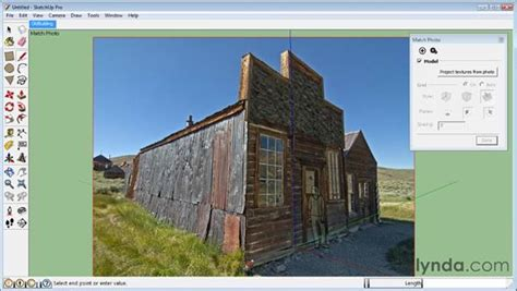 sketchup tutorial match photo modeling in photo match