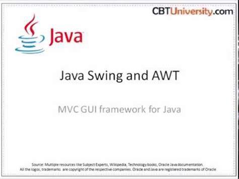 java swing framework java swing and awt mvc gui framework for java