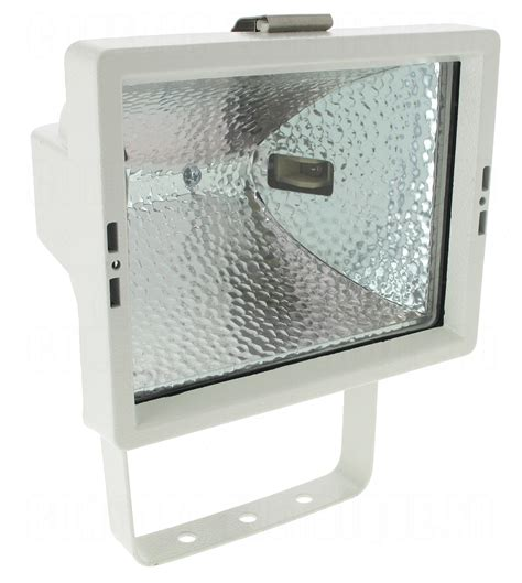 ladaire halogene blanc projecteur ext 233 rieur halog 232 ne r7s 118 400w aric mx500 blanc