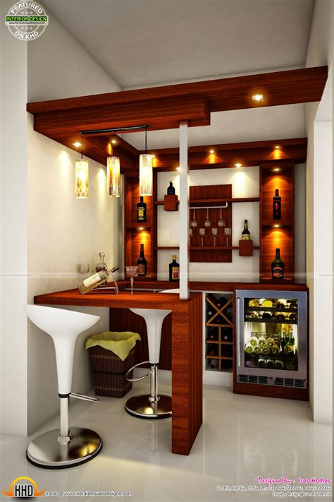 house bar counter design total home interior solutions by creo homes kerala home design and floor plans