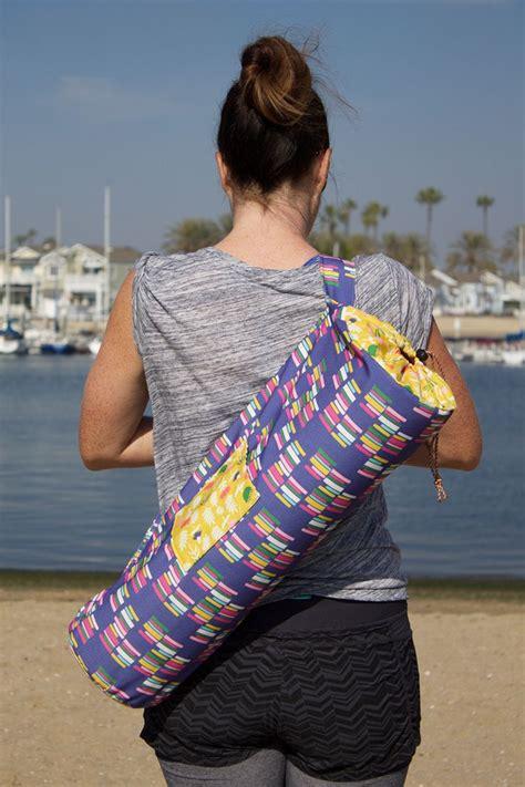 tutorial yoga bag diy yoga bag tutorial and you can use fabric designs