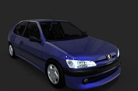 306 Hatchback Peugeot 3d Model Turbosquid 1233054