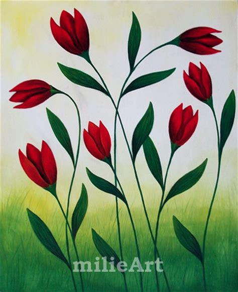 lukisan bunga abtrak flower by lukisan jogya flower