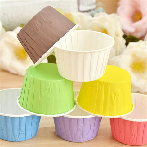 How To Make Baking Paper Muffin Cases - 50pcs paper cake cupcake liner wrappers muffin cases