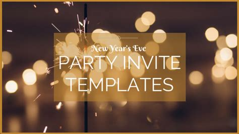 new year invite templates free chalkboard gold cheers new years invitation