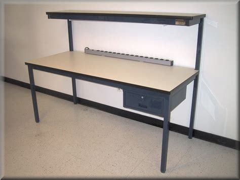 tech work bench rdm workbench f 103pe economy tech table w upper shelf