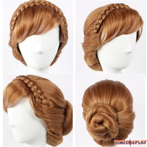 ladies updo wigs how to do an updo with a wig disney movie frozen princess