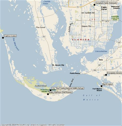 sanibel island map sanibel captiva island attractions map find sights things to do from southwest florida traveler
