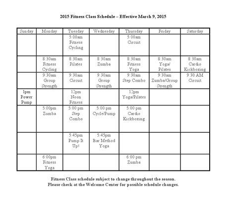 ymca printable schedule 2015 fitness class schedule blair family ymca