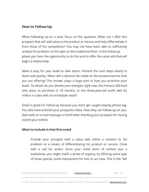 Trade Show Follow Up Email Template Lead Response Templates