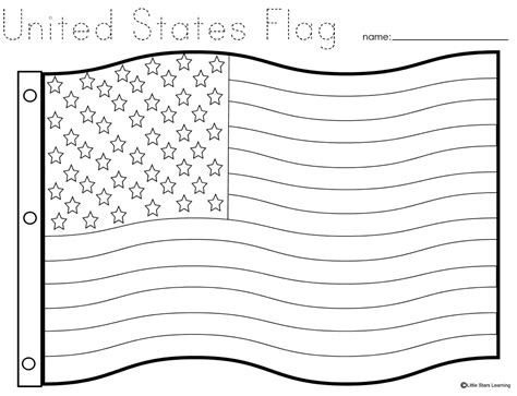 coloring page for united states flag little stars learning flag day w printables